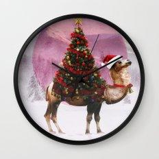 Santa Camel Wall Clock