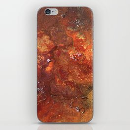 Mars mixed media on canvas, abstract artwork on canvas, close up photograph contemporary artist iPhone Skin