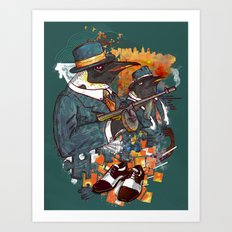 Mobster Puzzle Art Print