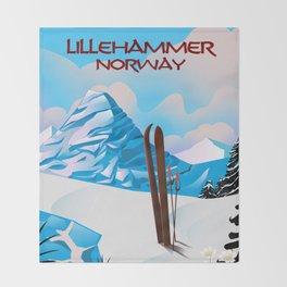 Lillehammer Norway Throw Blanket