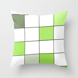 A Green Building Throw Pillow