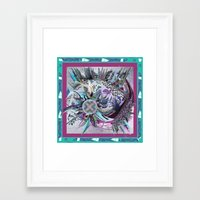 manchester Framed Art Prints featuring Manchester whirl by Sabah