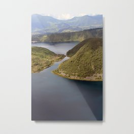 Channel in Lake Cuicocha Metal Print