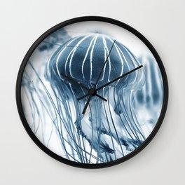 Minimalist jellyfish - abstract art Wall Clock