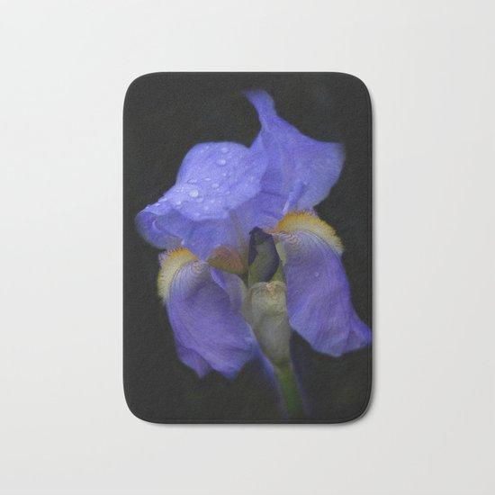 the colors of summer - blue iris Bath Mat