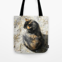 Sand Kitty Tote Bag