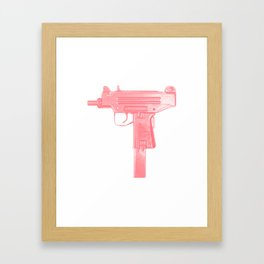 Pink machine gun Framed Art Print
