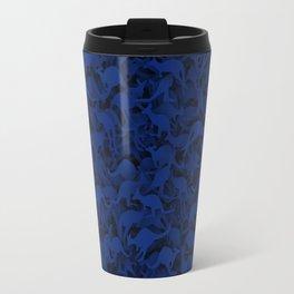 Deep Blue Kangaroos Travel Mug
