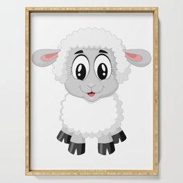 Cute Lamb Sheep Serving Tray