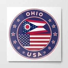 Ohio, USA States, Ohio t-shirt, Ohio sticker, circle Metal Print