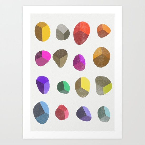 Painted Pebbles 2 Art Print