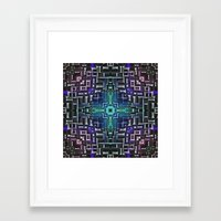 sci fi Framed Art Prints featuring Sci Fi Metallic Shell by Phil Perkins