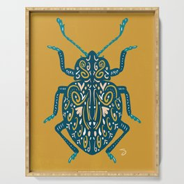 Beautiful Blue Beetle Serving Tray