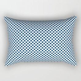Cool Black Polka Dots Rectangular Pillow