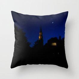 Charleston SC No.1 Huguenot Church Throw Pillow