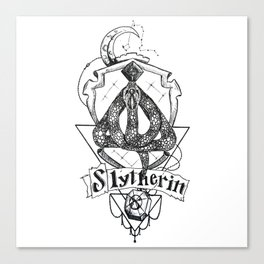 The Cunning House of Slytherin Canvas Print