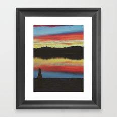 Colorado Skies and Drinks Framed Art Print