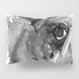 Black And White Half Faced English Bulldog Pillow Sham