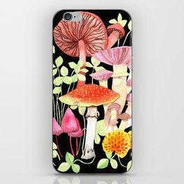 Magical Mushroom Print iPhone Skin