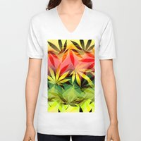 marijuana V-neck T-shirts featuring Marijuana by SpecialTees