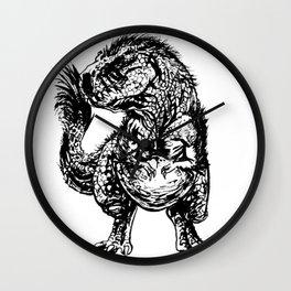 FEATHERY TYRANNOSAURUS Wall Clock