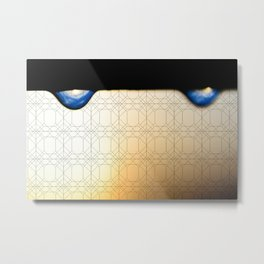 droplet with geometric Metal Print