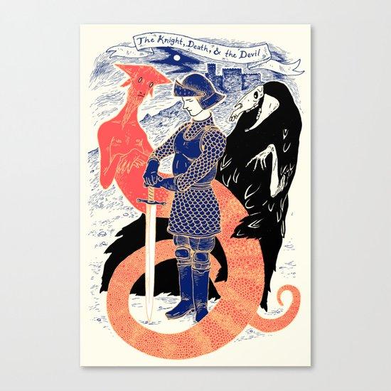 The Knight, Death, & the Devil Canvas Print