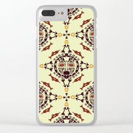 pattern with Tribal mask ethnic Clear iPhone Case