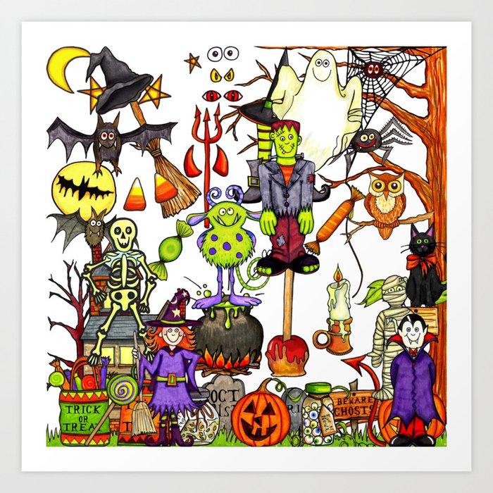 Halloween creatures Kunstdrucke