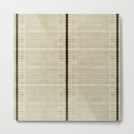 """""""Simple Oriental Curtains (Beige)"""" Metal Print"""