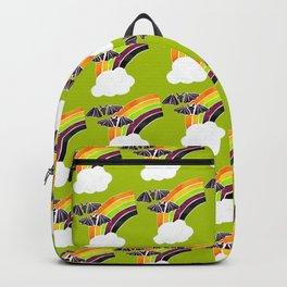 Halloween Rainbow on Lime Backpack