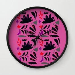 LUXURY HANDDRAWN LACE : PINK ETHNO SUMMER EDITION 2017 Wall Clock