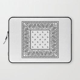 Classic White Bandana Laptop Sleeve