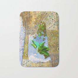 Leaves In Water Bath Mat