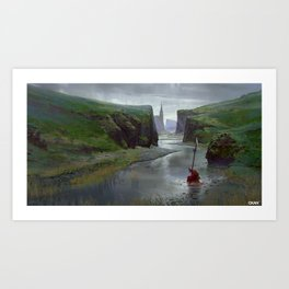 River Bed Art Print