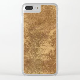 Abstract gold paper Clear iPhone Case