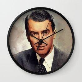 Jimmy Stewart, Movie Legend Wall Clock
