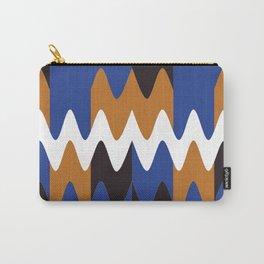 Pattern Abstrait Formes Vagues Bleu/Doré Carry-All Pouch