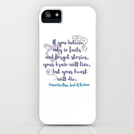 STORIES | CASSANDRA CLARE, LORD OF SHADOWS iPhone Case