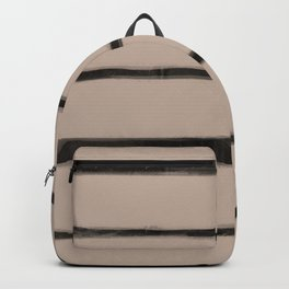 Skinny Strokes Gapped Horizontal  Black on Nude Backpack