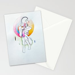 Tokyo, nude female figure, NYC artist Stationery Cards