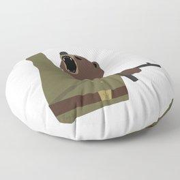 Soviet bear red army infantry ww2 Floor Pillow