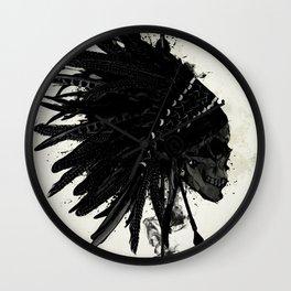 Warbonnet Skull Wall Clock