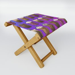 Cold Coffee Collage Folding Stool
