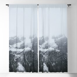 Mountain Peak in Fog Blackout Curtain