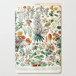 Adolphe Millot - Fleurs B - French vintage poster Cutting Board