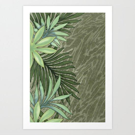 A Run Through the Jungle Art Print