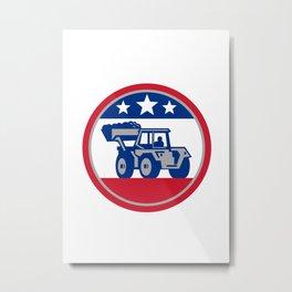 American Mechanical Digger Excavator Retro Metal Print