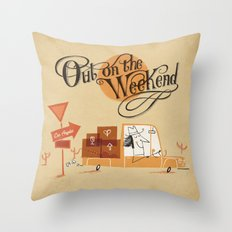 Out on the Weekend Throw Pillow