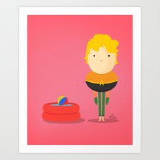 My liquid hero! Art Print